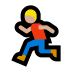 🏃🏼‍♂️ man running: medium-light skin tone Emoji on Windows Platform