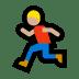 🏃🏼♂️ man running: medium-light skin tone Emoji on Windows Platform