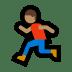 🏃🏽♂️ man running: medium skin tone Emoji on Windows Platform