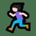 🏃🏻♀️ woman running: light skin tone Emoji on Windows Platform