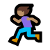 🏃🏽‍♀️ woman running: medium skin tone Emoji on Windows Platform
