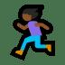 🏃🏾♀️ woman running: medium-dark skin tone Emoji on Windows Platform