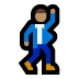 🕺🏽 man dancing: medium skin tone Emoji on Windows Platform