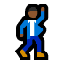 🕺🏾 man dancing: medium-dark skin tone Emoji on Windows Platform