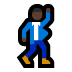 🕺🏿 man dancing: dark skin tone Emoji on Windows Platform