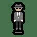 🕴🏼 man in suit levitating: medium-light skin tone Emoji on Windows Platform