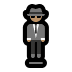 🕴🏽 man in suit levitating: medium skin tone Emoji on Windows Platform