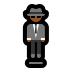 🕴🏾 man in suit levitating: medium-dark skin tone Emoji on Windows Platform