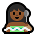 🧖🏾 person in steamy room: medium-dark skin tone Emoji on Windows Platform
