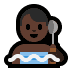 🧖🏿‍♂️ man in steamy room: dark skin tone Emoji on Windows Platform