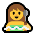 🧖‍♀️ woman in steamy room Emoji on Windows Platform