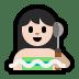 🧖🏻♀️ woman in steamy room: light skin tone Emoji on Windows Platform