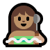 🧖🏽♀️ woman in steamy room: medium skin tone Emoji on Windows Platform