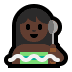 🧖🏿♀️ woman in steamy room: dark skin tone Emoji on Windows Platform