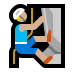 🧗🏼‍♂️ man climbing: medium-light skin tone Emoji on Windows Platform
