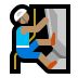 🧗🏽‍♂️ man climbing: medium skin tone Emoji on Windows Platform