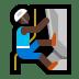 🧗🏿♂️ man climbing: dark skin tone Emoji on Windows Platform