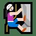 🧗🏻♀️ woman climbing: light skin tone Emoji on Windows Platform