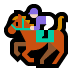 🏇🏻 horse racing: light skin tone Emoji on Windows Platform