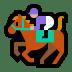 🏇🏼 horse racing: medium-light skin tone Emoji on Windows Platform