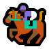 🏇🏿 horse racing: dark skin tone Emoji on Windows Platform