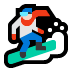🏂🏻 snowboarder: light skin tone Emoji on Windows Platform