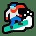 🏂🏼 snowboarder: medium-light skin tone Emoji on Windows Platform