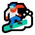 🏂🏽 snowboarder: medium skin tone Emoji on Windows Platform