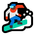 🏂🏿 snowboarder: dark skin tone Emoji on Windows Platform
