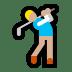 🏌🏼 Medium Light Skin Tone Person Golfing Emoji on Windows Platform