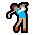 🏌🏽 person golfing: medium skin tone Emoji on Windows Platform
