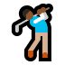 🏌🏾 person golfing: medium-dark skin tone Emoji on Windows Platform