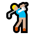 🏌🏼‍♂️ man golfing: medium-light skin tone Emoji on Windows Platform