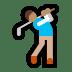 🏌🏽♂️ man golfing: medium skin tone Emoji on Windows Platform