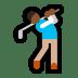 🏌🏾♂️ Medium Dark Skin Tone Man Golfing Emoji on Windows Platform