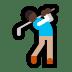 🏌🏿♂️ man golfing: dark skin tone Emoji on Windows Platform