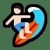 🏄🏻 person surfing: light skin tone Emoji on Windows Platform