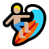 🏄🏼 person surfing: medium-light skin tone Emoji on Windows Platform