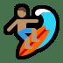 🏄🏽 person surfing: medium skin tone Emoji on Windows Platform