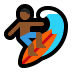 🏄🏾 person surfing: medium-dark skin tone Emoji on Windows Platform