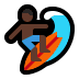 🏄🏿 person surfing: dark skin tone Emoji on Windows Platform