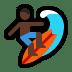 🏄🏿 person surfing: dark skin tone Emoji on Windows Platform