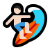 🏄🏻‍♂️ man surfing: light skin tone Emoji on Windows Platform