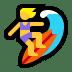 🏄♀️ woman surfing Emoji on Windows Platform