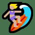 🏄🏼♀️ woman surfing: medium-light skin tone Emoji on Windows Platform