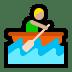 🚣🏼 person rowing boat: medium-light skin tone Emoji on Windows Platform