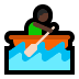 🚣🏿 person rowing boat: dark skin tone Emoji on Windows Platform