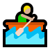 🚣🏼♂️ man rowing boat: medium-light skin tone Emoji on Windows Platform