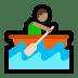 🚣🏽♂️ man rowing boat: medium skin tone Emoji on Windows Platform