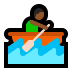 🚣🏾‍♂️ man rowing boat: medium-dark skin tone Emoji on Windows Platform